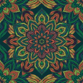 Natuur naadloze patroon met abstracte bloemen.