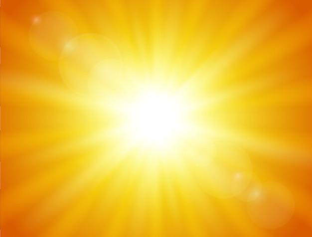 Natuur oranje achtergrond. schijnende zon.