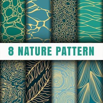 Natuur patroon set collectie