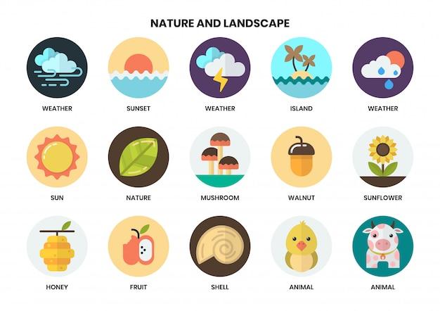Natuur pictogrammen instellen