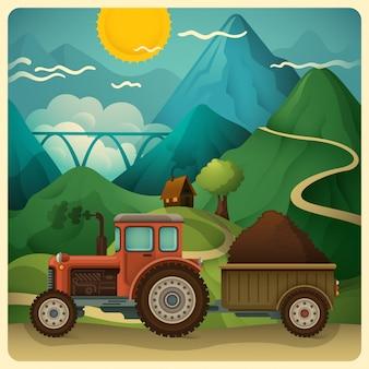 Natuur platteland illustratie