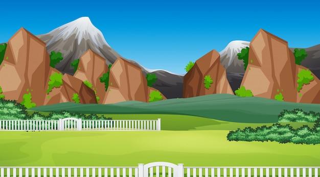 Natuur scène landschap sjabloon