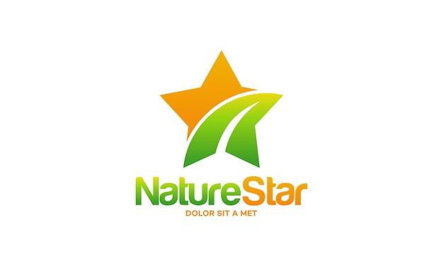 Natuur ster symbool sjabloon illustratie