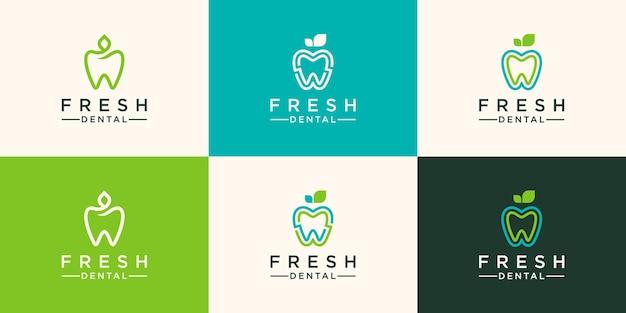 Natuur tandheelkundige logo sjabloonontwerp