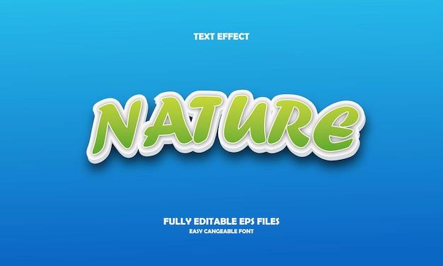 Natuur teksteffect