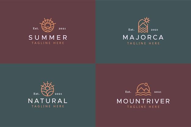 Natuur thema vakantie logo badge