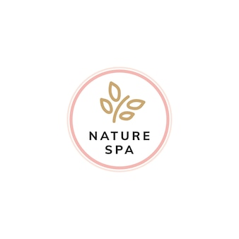 Natuur therapie spa logo vector