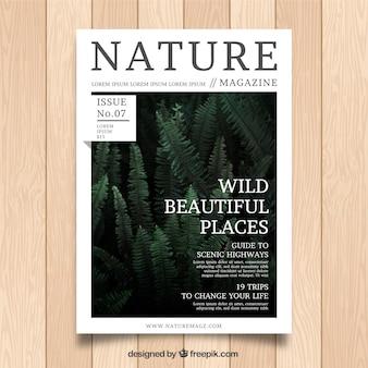 Natuur tijdschrift sjabloon