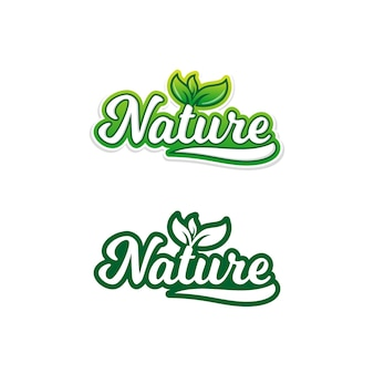 Natuur voedsel stickers
