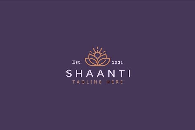 Natuur yoga en spa creatieve logo sjabloon