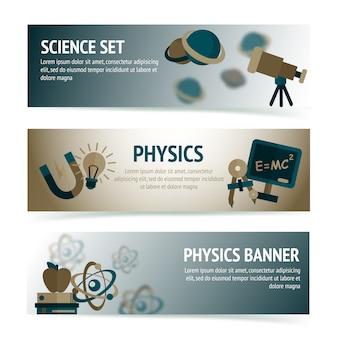 Natuurkunde wetenschapsbannermalplaatje