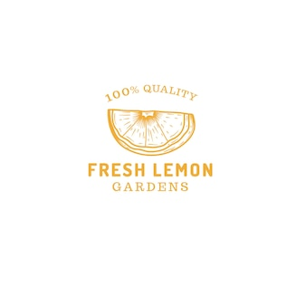Natuurlijk citroenen abstract logo