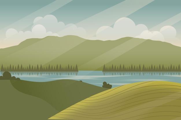 Natuurlijk landschap - achtergrond voor videoconferenties