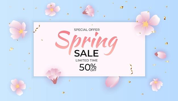 Natuurlijk licht bloem lente verkoop achtergrond.