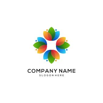 Natuurlijk logo pictogram kleurrijk