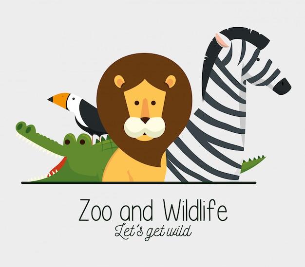 Natuurlijk natuurreservaat voor schattige dieren