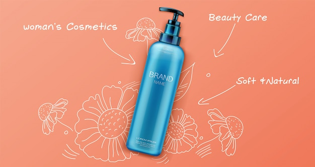 Natuurlijk schoonheidsproduct voor cosmetica voor gezicht of lichaamsverzorging op sinaasappel