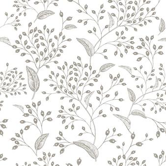 Natuurlijk vintage naadloos patroon.
