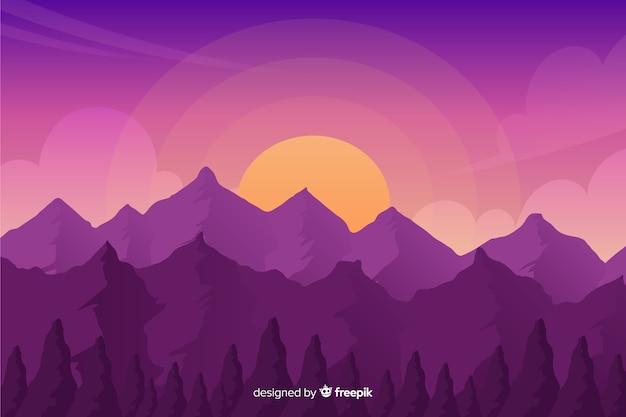 Natuurlijke achtergrond met bergenlandschap