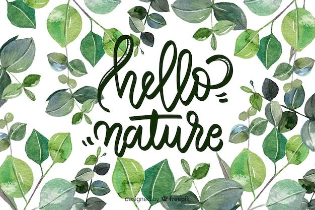 Natuurlijke achtergrond met citaat