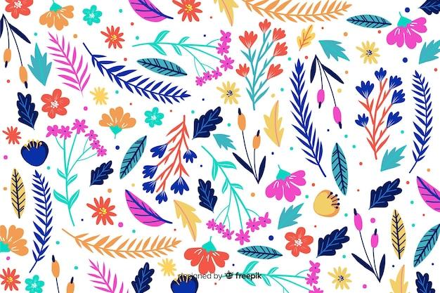 Natuurlijke achtergrond met kleurrijke bloemen