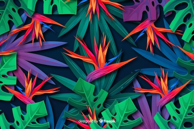 Natuurlijke achtergrond met tropische bloemen
