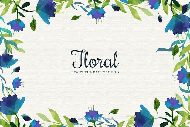 Natuurlijke achtergrond met vlakke bloemen