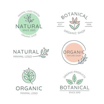 Natuurlijke bedrijfslogo-collectie in minimalistische stijl