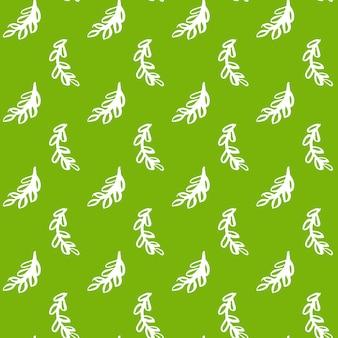 Natuurlijke blad groene naadloze patroon. vectorillustratie van voorjaar betegelbare achtergrond.
