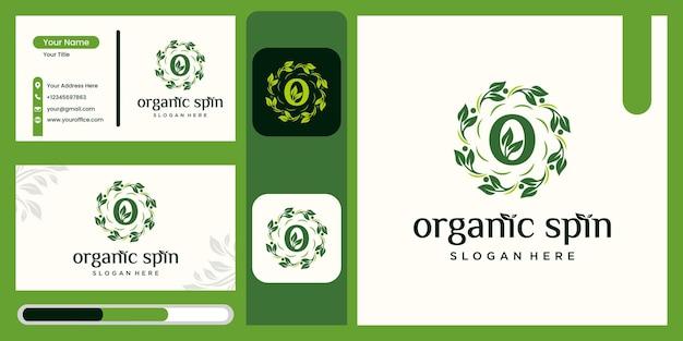 Natuurlijke bloem gezondheid blad logo creatieve cirkel concept logo ontwerp gezondheid blad logo sjabloon