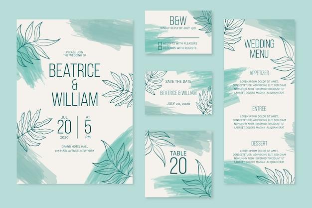 Natuurlijke bruiloft briefpapier