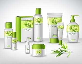 Natuurlijke cosmetische producten van bamboe