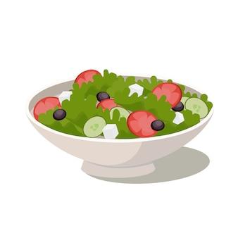 Natuurlijke groente verse salade. biologisch voedsel, dieet.