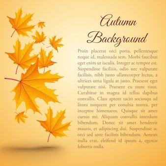Natuurlijke herfst achtergrond