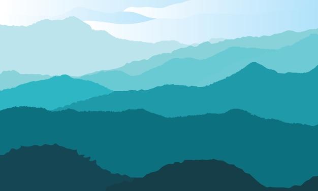 Natuurlijke heuvelachtergrond