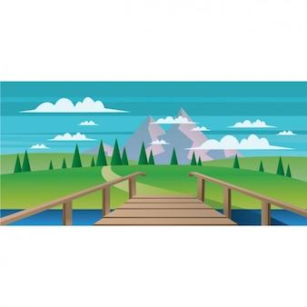 Natuurlijke landschap achtergrond