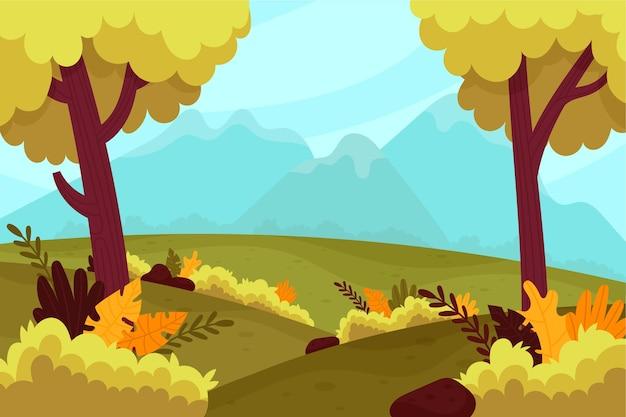 Natuurlijke landschap conferencing achtergrond