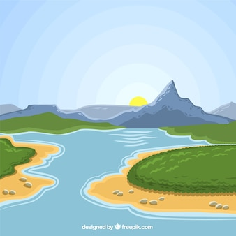 Natuurlijke landschap