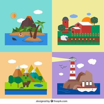 Natuurlijke landschappen