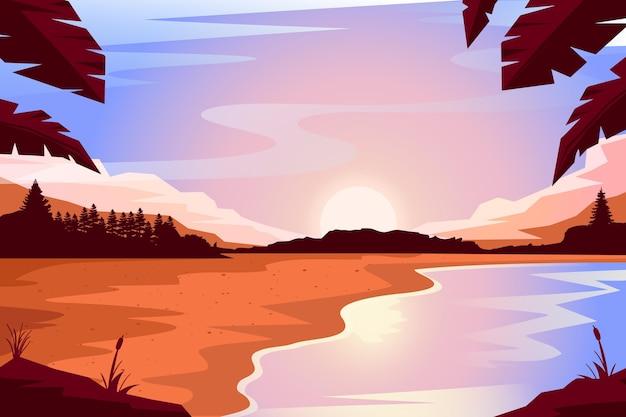 Natuurlijke landschapsachtergrond