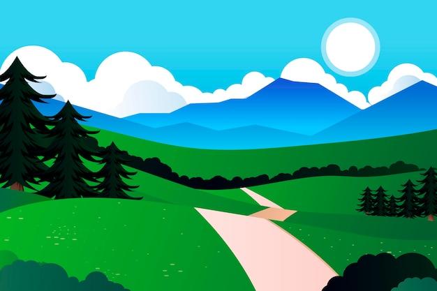 Natuurlijke landschapsconferentie achtergrond