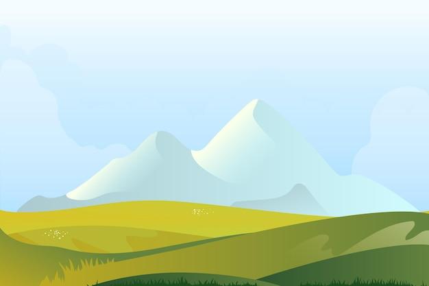 Natuurlijke landschapsstijl als achtergrond