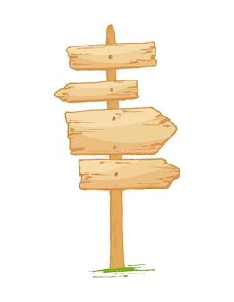 Natuurlijke oude geweven houten uithangborden met barsten en gras