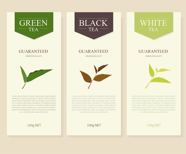 Natuurlijke thee banner ontwerp.