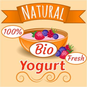 Natuurlijke yoghurt achtergrond