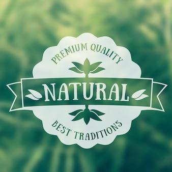 Natuurproduct embleem, vintage badge, logo.