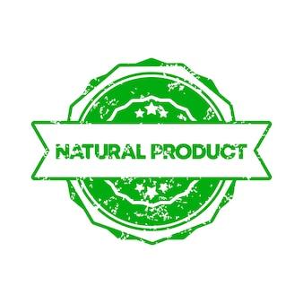 Natuurproduct stempel. vector. natuurproduct kentekenpictogram. gecertificeerd badge-logo. stempel sjabloon. etiket, sticker, pictogrammen. ggo-vrij natuurproduct. vectoreps 10. geïsoleerd op witte achtergrond.