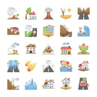 Natuurrampen pictogrammen