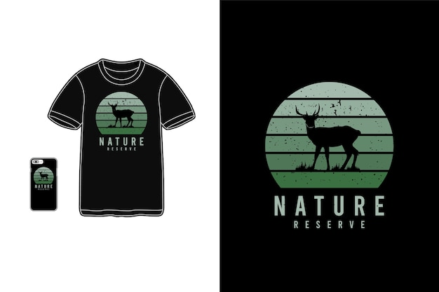 Natuurreservaat, t-shirt koopwaar typografie