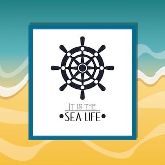 Nautisch beeld van de zee het leven verwante pictogrammen